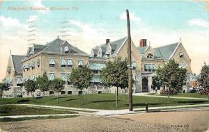 Allentown Pennsylvania~Allentown Hospital~Corner Sidewalks~Dirt Road~1907