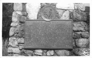 1940s Hill Cacaveras California Mokelumne Historical Marker RPPC Postcard 11936