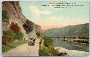 Harper's Ferry WV~Chesapeake & Ohio~Potomac & Shenandoah Rvr Jct~C&O Canal~1916