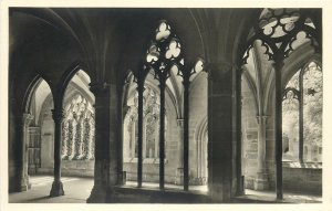 Postcard Germany maulbronn durchblick zum kapitelsaal architecture gothic