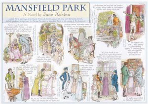 Mansfield Park Jane Austen Novel Book Giant Rare Postcard