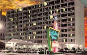 OK, Oklahoma City  HOLIDAY INN~Downtown ROADSIDE Evening~Sunset Chrome Postcard