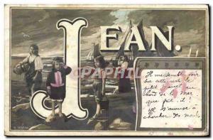 Old Postcard Jean Surname