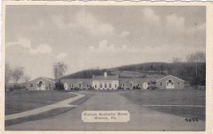 WARREN , Pennsylvania , 1930s ; Watson Memorial Home
