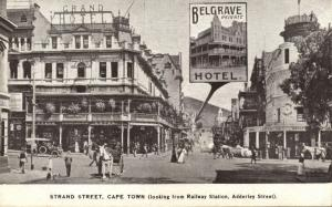south africa, CAPE TOWN, Strand Street, Grand & Belgrave Hotel (1910s)