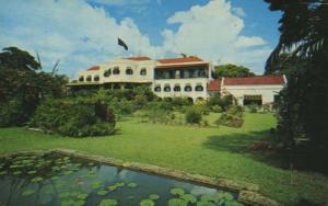 Government House Bridgetown Barbados West Indies Vintage Postcard D28