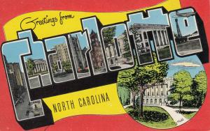 Large Letter Greeting, CHARLOTTE , North Carolina; 1930-40s