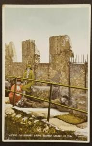 Mint Vintage Ireland Kissing Blarney Stone County Cork Real Picture Postcard