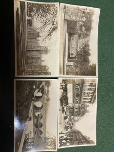 vintage real picture X4 of Belfast Royal Ave. , Queens university ect., Shaws,