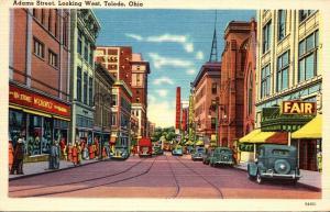 Ohio Toledo Adams Street Looking West