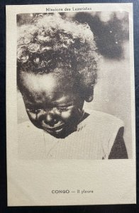 Mint Congo Real Picture Postcard Lazaristes Mission Baby Crying