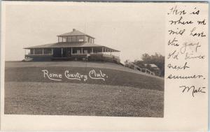 RPPC  ROME, NY New York?   ROME COUNTRY CLUB  c1900s GOLF  Postcard