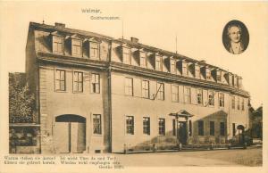 Weimar Goethe museum Germany 1909