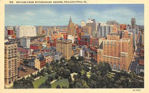 Skyline from Rittenhouse Square  Philadelphia, Pennsylvania PA