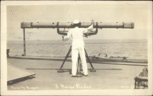 USS Nebraska Naval Ship Cover 1912 From Ship Post Master Range Finder RPPC