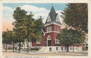 JOHNSON CITY , New York , 1909 , First M.E. Church & Parsonage
