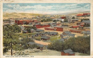 G52/ Prescott Arizona Postcard c1910 Birdseye View Stores Homes 17