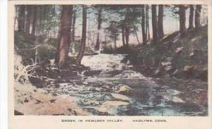Connecticut Hadlyme Brook in Hemlock Valley Handcolored Albertype