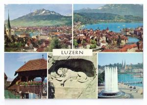 Luzern Lucerne Switzerland Multiview 1972  4X6
