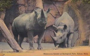 Michigan Detroit Rhinocerus Exhibit At Zoological Park