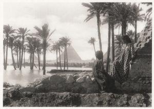 Rudolf Lenhert La Crue Egyptian Romance By Pyramid Photo Postcard