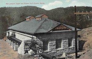 San Joaquin Light & Power Co.'s Power House c1910s Vintage Postcard
