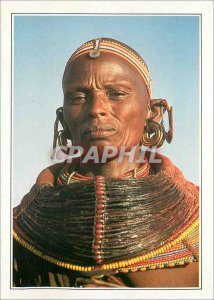 Postcard Modern Female Kenya Samburu