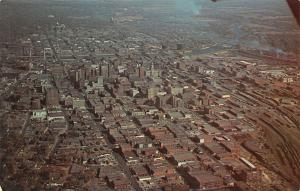 Des Moines Iowa~Aerial Photograph~Looking East~1960s Postcard