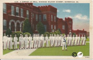 A Company At Drill Riverside Military Academy Gainesville Georgia Postcards
