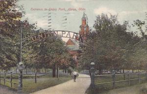 Entrance to Union Park, AKRON, Ohio, PU-1908