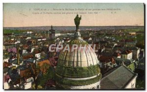 Old Postcard From Dorne Tours Basilica St. Martin And Vue Generale Towards & ...