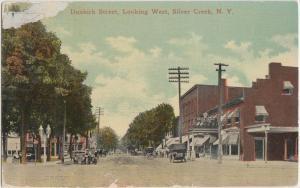 New York NY Postcard c1910 SILVER CREEK Dunkirk Street SILVER CREEK HOUSE