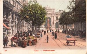 Bahnhofstrasse, Zurich, Switzerland, Very Early Postcard, Unused