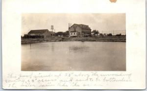 Vintage ALBION, Iowa RPPC Real Photo Postcard Flood Scene? w/ 1914 IA Cancel