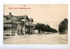 247845 FINLAND HANGO Grand Hotel boulevard Vintage postcard