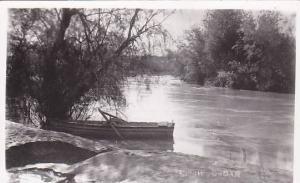 RP, Boat, River Jordan, Jordan, Asia, 1930-1950s