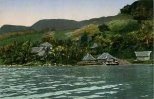 indonesia, SUMATRA, Tiga Ras, View from the Water (1910s) Mission Postcard