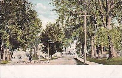 Maine Belfast Street Scene