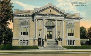Conneaut Ohio~Carnegie Public Library~State Street~Now Sits Empty~1912 Postcard