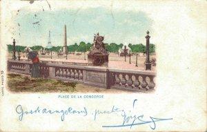 France Paris Place De La Concorde Litho 04.36