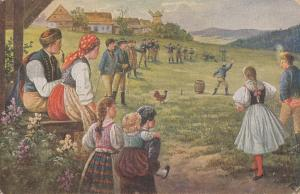 Slovakia folklore & traditions - National habits - Beheaded rooster