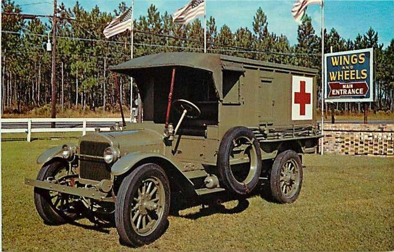 SC, Santee, South Carolina, Wings & Wheels Museum, 1918 GMC Ambulance, Dexter...