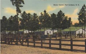 FORT JACKSON , South Carolina , 1930-40s ; Horse Corral