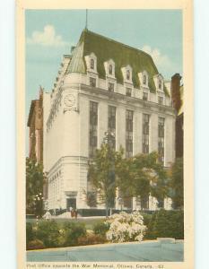 Ottawa Canada Post Office opp War Memorial 63 Clock Spring   Postcard # 6030