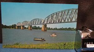 STD Vintage Railway Bridge Ohio River Waterfront Henderson Kentucky Unposted