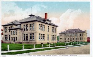 Park County High and West Side Grade School, Livingston, Montana, 1925
