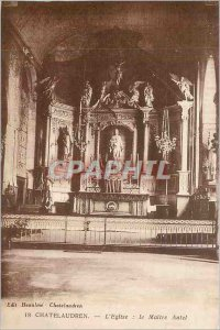 Old Postcard Chatelaudren The Church Altar The Master