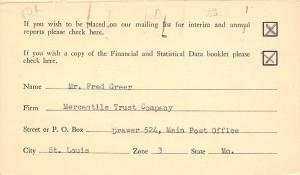 St Louis MO Checklist~Merc Trust Co Postal~To Northern Illinois Gas~Aurora 1940s