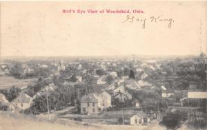 E75/ Woodsfield Ohio Postcard Monroe County 1915 Birdseye View Homes 11