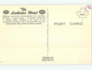 Unused Pre-1980 LINKLETTER MOTEL Summerside Prince Edward Island PE o0420-13